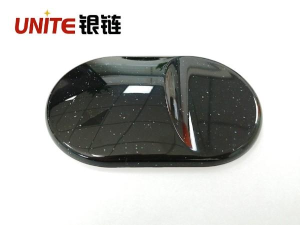 银链水磨石黑底白点ABS免喷涂材料
