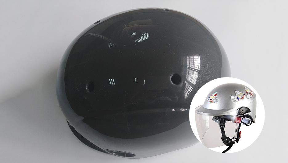 灰色免喷涂塑料在安全头盔上的应用案例