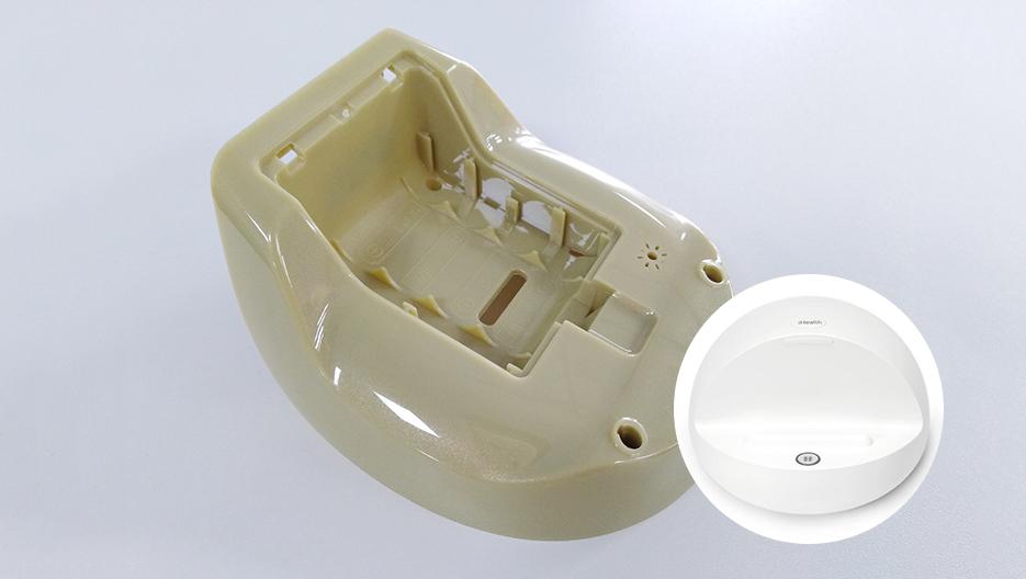 鹅黄色PC免喷涂合金塑料在血压仪上的应用案例