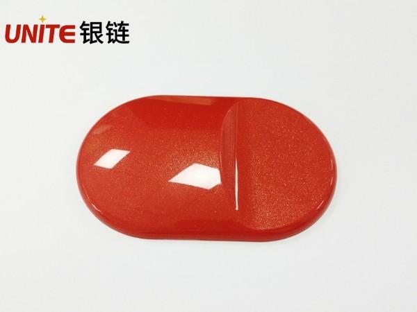银链燃橘色ABS免喷涂塑胶材料